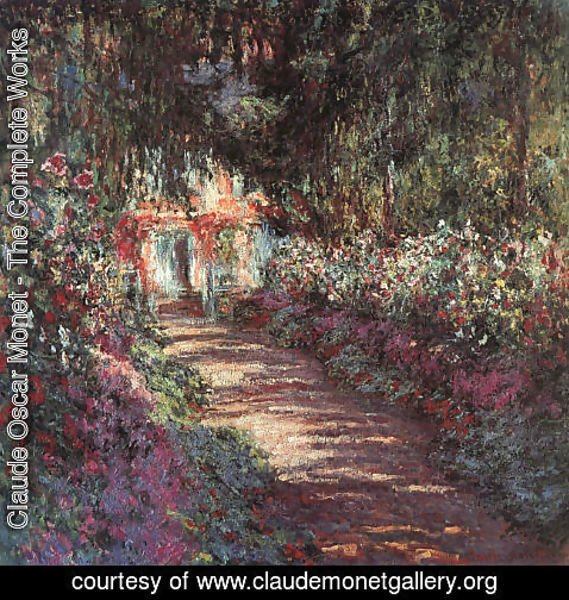 Claude Oscar Monet - The garden in flower