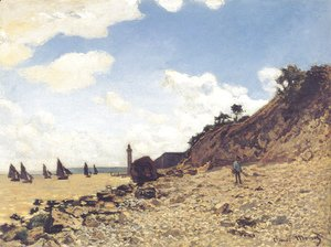 Claude Oscar Monet - Beach at Honlfeux