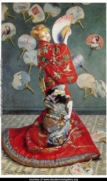 La Japonaise (or Camille Monet in Japanese Costume)