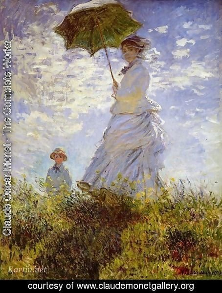 Claude Oscar Monet - Woman with a Parasol
