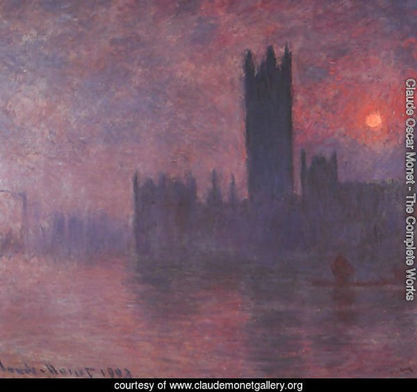 London: Houses of Parliament at Sunset