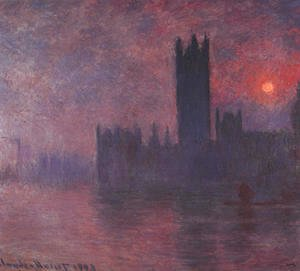 Claude Oscar Monet - London: Houses of Parliament at Sunset