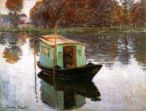 Claude Oscar Monet - The Studio Boat