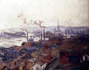 Claude Oscar Monet - General View Of Rouen From St. Catherine's Bank