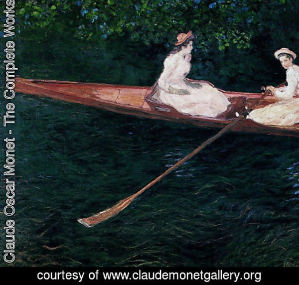Claude Oscar Monet - Boating On The River Epte