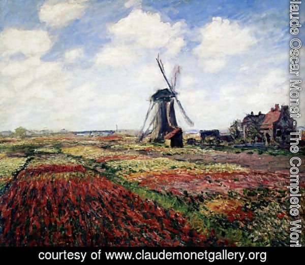 Claude Oscar Monet - Tulip Fields With The Rijnsburg Windmill
