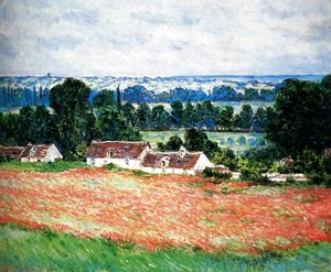 Claude Oscar Monet - Field Of Poppies, Giverny