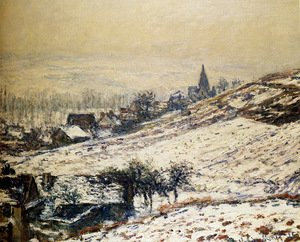 Claude Oscar Monet - Winter At Giverny 2