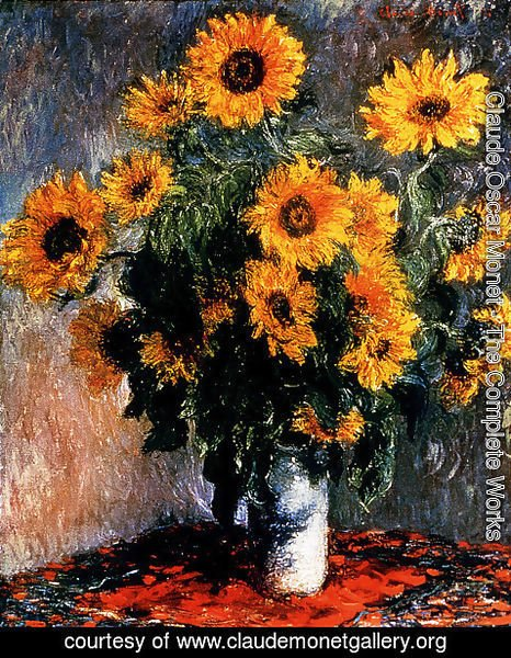 Claude Oscar Monet - Sunflowers