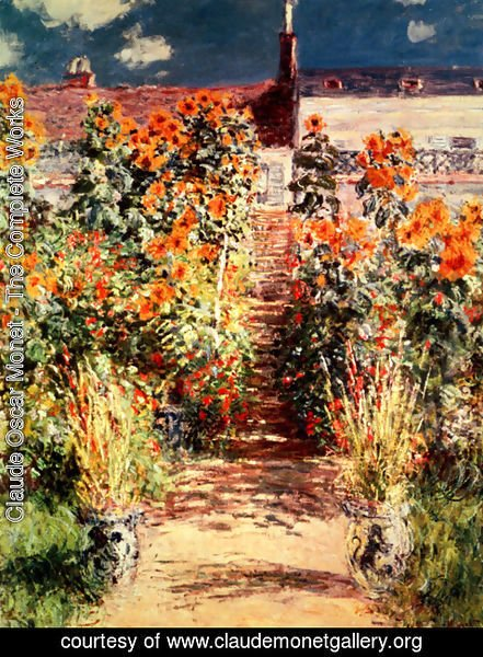 Claude Oscar Monet - The Steps At Vetheuil 2