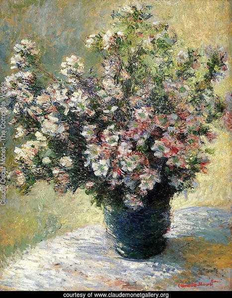 Claude Oscar Monet The Complete Works Vase Of Flowers Claudemonetgallery Org