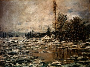 Claude Oscar Monet - Break-up Of Ice, Lavacourt
