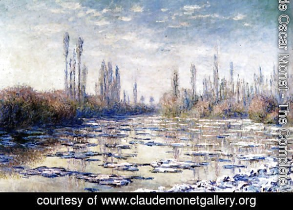 Claude Oscar Monet - Floating Ice Near Vetheuil