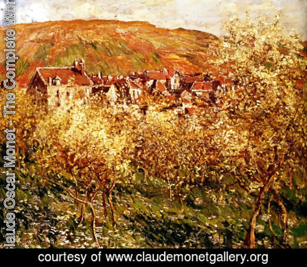 Claude Oscar Monet - Apple Trees In Blossom