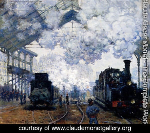Claude Oscar Monet - The Gare Saint-Lazare: Arrival Of A Train