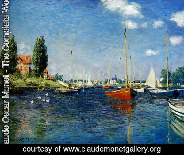 Claude Oscar Monet - Argenteuil (Red Boats)