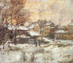 Claude Oscar Monet - Snow Effect With Setting Sun