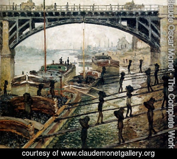 Claude Oscar Monet - Unloading Coal