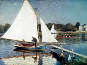 Claude Oscar Monet - Sailing At Argenteuil