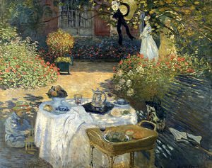 Claude Oscar Monet - The Luncheon (Monet's Garden At Argenteuil)