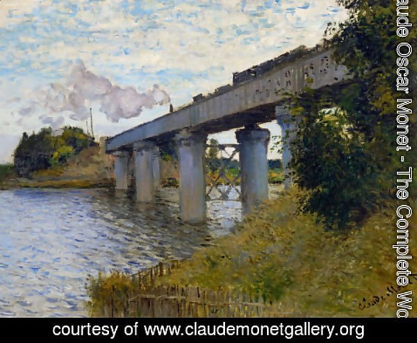 Claude Oscar Monet - The Railway Bridge At Argenteuil
