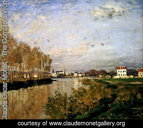 Claude Oscar Monet - The Seine At Argenteuil, 1873