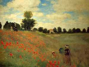 Claude Oscar Monet - Wild Poppies, Near Argenteuil