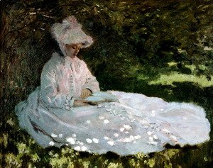 Claude Oscar Monet - A Woman Reading