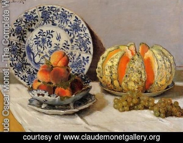 Claude Oscar Monet - Still Life With Melon