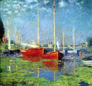 Claude Oscar Monet - The Red Boats, Argenteuil