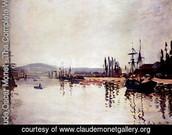 Claude Oscar Monet - The Seine Below Rouen