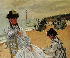 Claude Oscar Monet - On The Beach At Trouville