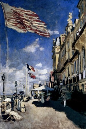 Claude Oscar Monet - The Hotel Des Roches Noires At Trouville