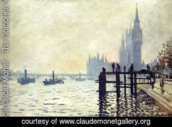 Claude Oscar Monet - The Thames And The Houses Of Parliament
