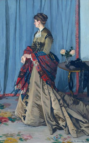 Claude Oscar Monet - Portrait Of Madame Gaudibert