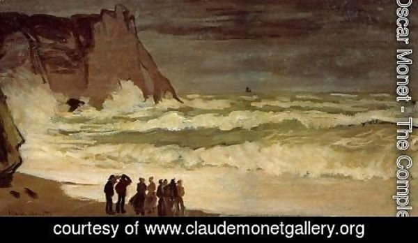 Claude Oscar Monet - Rough Sea At Etretat