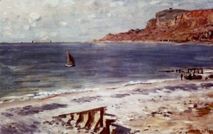 Claude Oscar Monet - Sailing At Sainte-Adresse