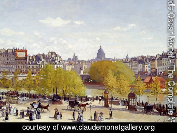 Claude Oscar Monet - The Quai Du Louvre, Paris