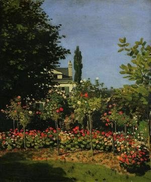 Claude Oscar Monet - Garden In Flower At Sainte-Adresse
