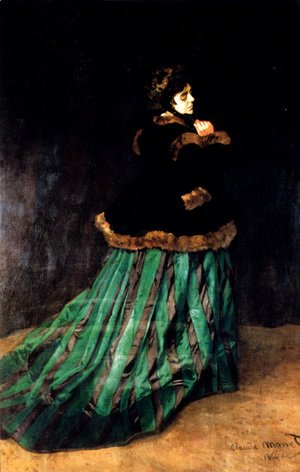 Claude Oscar Monet - Woman In A Green Dress