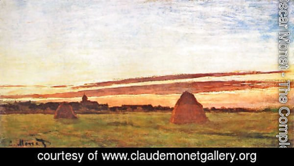 Claude Oscar Monet - Haystacks At Chailly