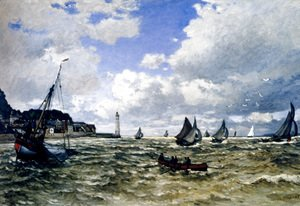 Claude Oscar Monet - The Seine Estuary At Honfleur