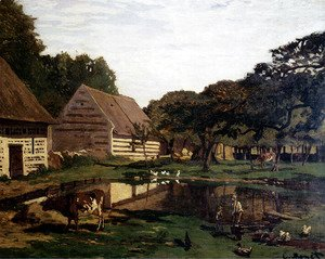 Claude Oscar Monet - A Farmyard In Normandy