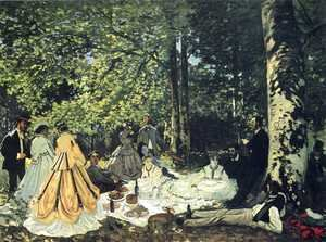 Claude Oscar Monet - Luncheon on the Grass 2