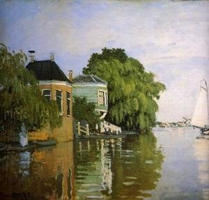 Claude Oscar Monet - Zaandam (detail)