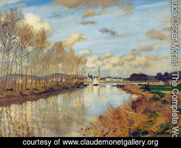 Claude Oscar Monet - Argenteuil, Seen from the Small Arm of the Seine