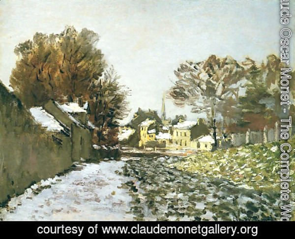 Claude Oscar Monet - Snow at Argenteuil I