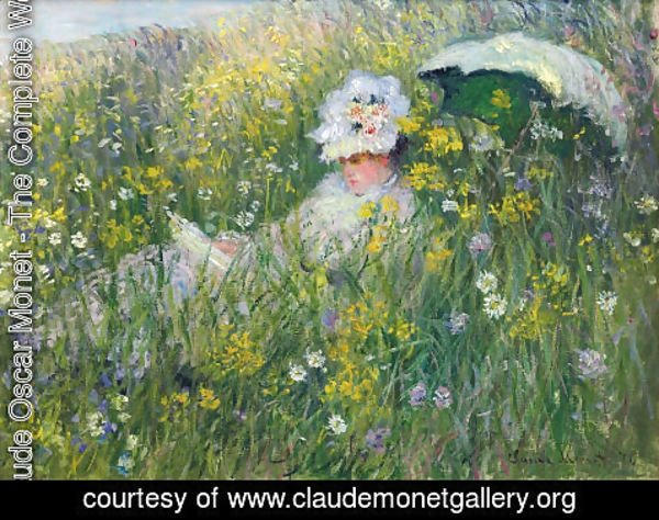 Claude Oscar Monet - In the Meadow (detail)