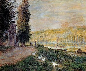Claude Oscar Monet - The Banks of the Seine, Lavacour