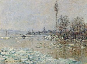 Claude Oscar Monet - Breakup of the Ice, Lavacourt